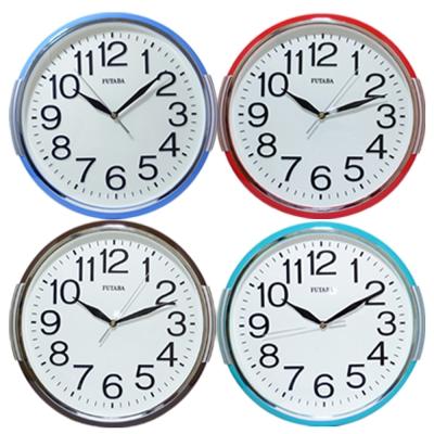 流行立體凸字靜音掛鐘(4色) 0762