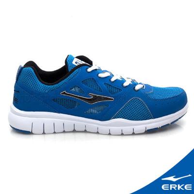 ERKE 鴻星爾克。男運動綜訓慢跑鞋-彩藍