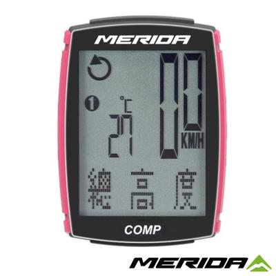 《MERIDA》美利達 COMP碼錶 黑/桃紅 26功能 1172