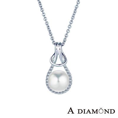 A Diamond 亞立詩鑽石 寵愛系列8-8.5mm 天然淡水養珠珍珠項鍊