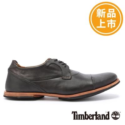 Timberland-男款黑色復古質感手工牛津鞋