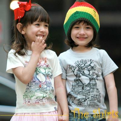 【The Shirts】彩虹森林古堡短袖T恤 (白色)