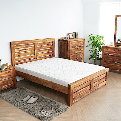 H&D 奧瑞鄉村系列實木雙人房間5件組 (寬158X深200X高110cm)