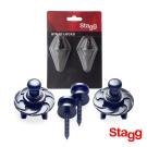 Stagg 比利時 吉他/貝斯 專用 快拆式安全背帶鈕扣SSL1BK(2組裝)