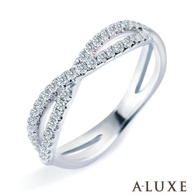 A-LUXE 亞立詩 雙排鑽18K金鑽石線戒