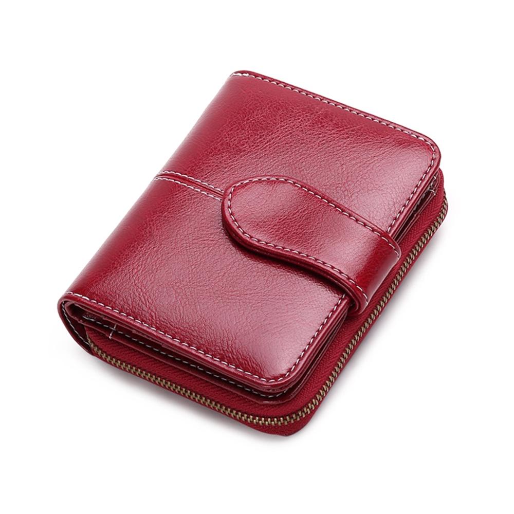 玩皮工坊-復古牛皮優雅女士皮夾皮包短夾女夾-LH537