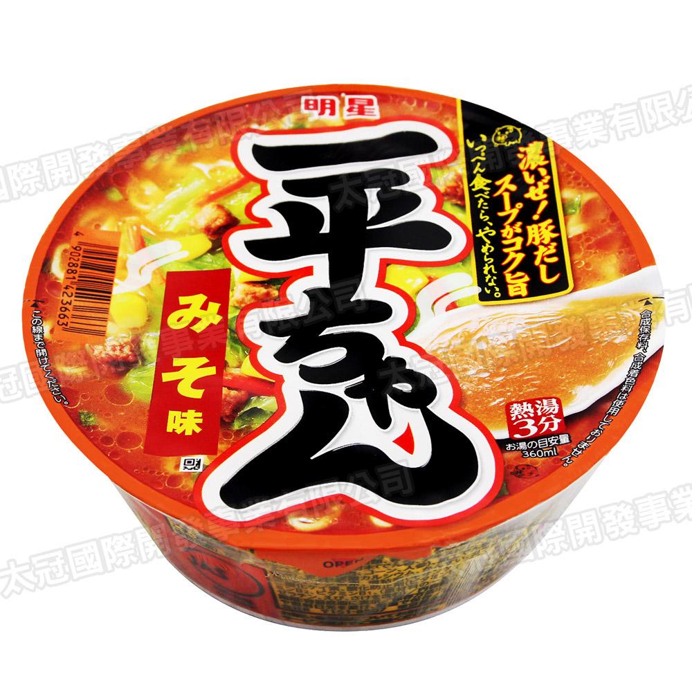 明星食品  一平匠碗麵-味噌(93gx2碗)