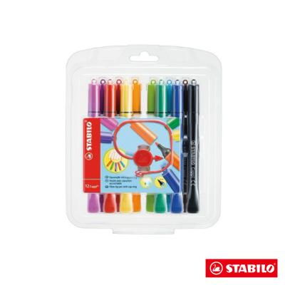 Stabilo 繪畫系 - Cappi 人體工學 彩色筆12色