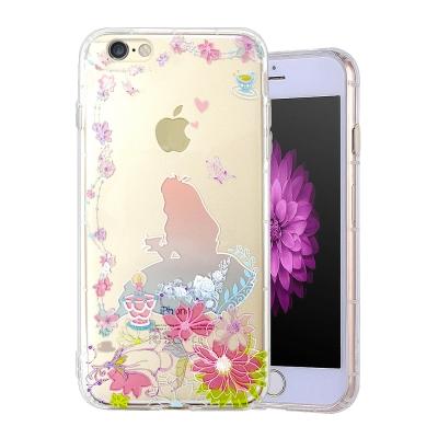 VXTRA彩繪童話 iPhone 8/iPhone 7 漸層浮雕空壓殼(愛麗絲茶...