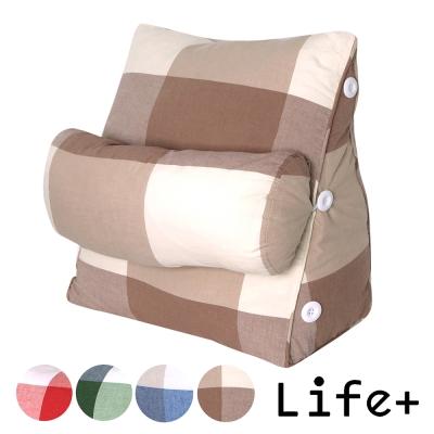 Life Plus 簡單生活舒壓萬用靠枕/抱枕/腰靠枕 (咖底米格K)