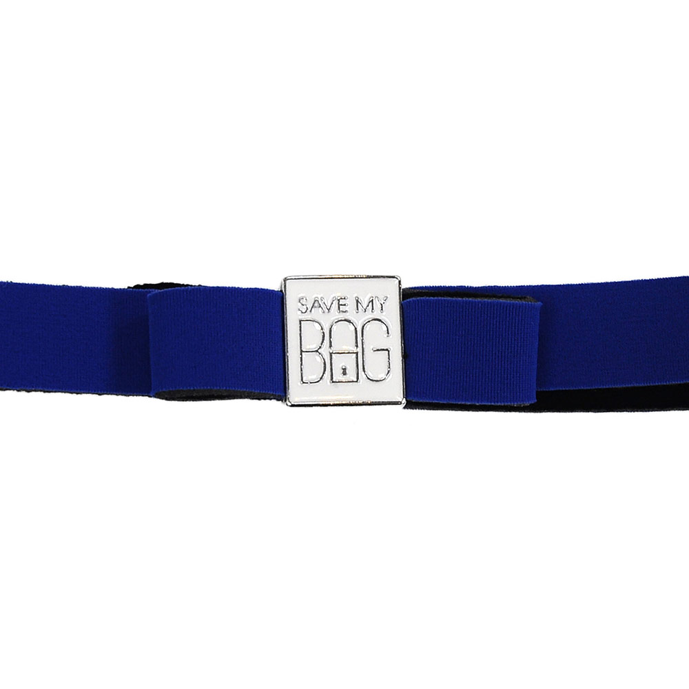 SAVE MY BAG 義大利品牌 MISS系列 礦藍蝴蝶結裝飾帶