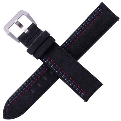 TED SU 太和錶帶賽車主題ALCANTARA錶帶勞力士代用黑色-20*18