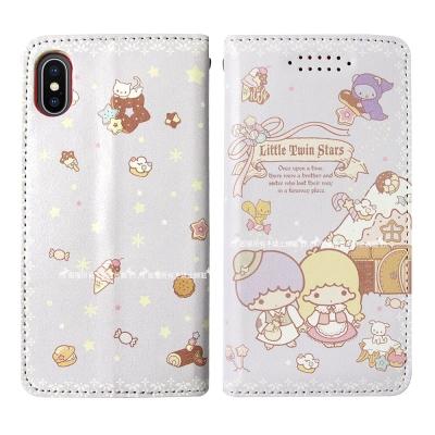 三麗鷗授權 Kikilala 雙子星 iPhone X 隱形磁力皮套(童話)