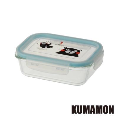 ~KUMAMON熊本熊~耐熱玻璃保鮮盒640ML 長形