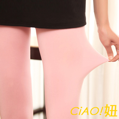 糖果色彈力牛奶絲九分內搭褲 (共五色)-CIAO妞