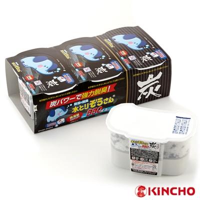 日本OKAMOTO 小象加炭除濕盒550ml-3個入(HK-CL9781) -快