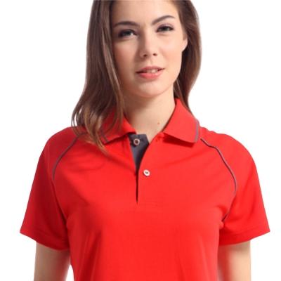【Sunrise】88118-1活力鮮紅★短袖POLO女版襯衫