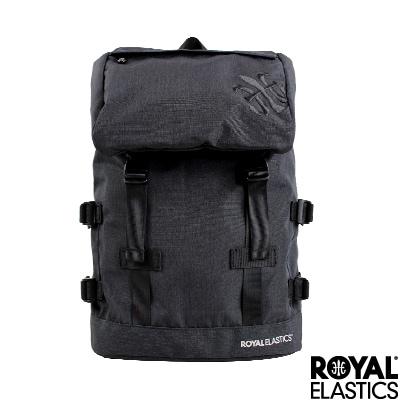 Royal Elastics - 休閒大容量後背包 - Festival山林搖滾系列 - 沉黑