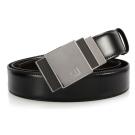 dunhill 碳纖維方格標誌扣式雙面皮帶-黑色