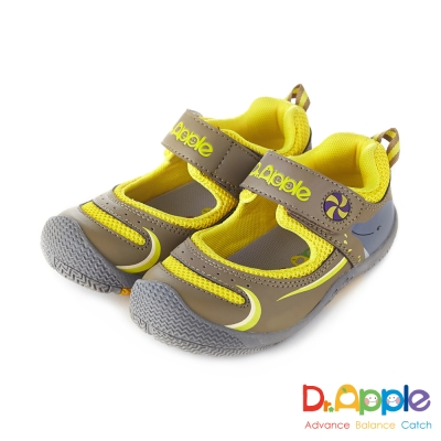 Dr. Apple 機能童鞋 噴水海豚快樂遊戲休閒涼童鞋款  黃