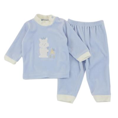 愛的世界 pappa&ciccia 小兔王子剪絨長袖套裝 6M~3歲