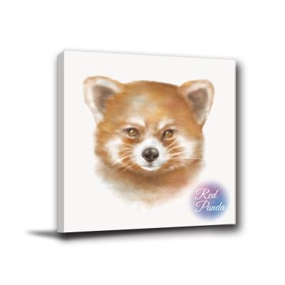 24mama掛畫-單聯無框圖畫藝術家飾品掛畫油畫-red panda-40x40cm
