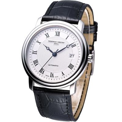 CONSTAN 康斯登經典紳士機械腕錶-銀白/40mm
