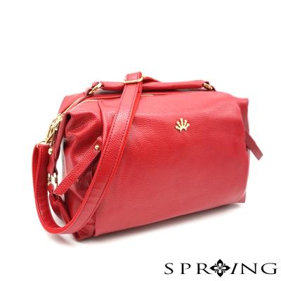 SPRING-Aurora歐若拉斜背枕頭包-紅