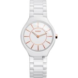 RADO雷達 真薄系列陶瓷石英女錶(R27958102)-白/30mm