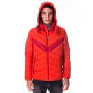 【hilltop山頂鳥】男款超撥水保暖蓄熱羽絨短大衣F22MU6橘