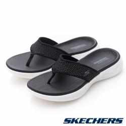 SKECHERS(女)時尚休閒系列ON THE GO 600拖鞋-15300BKW
