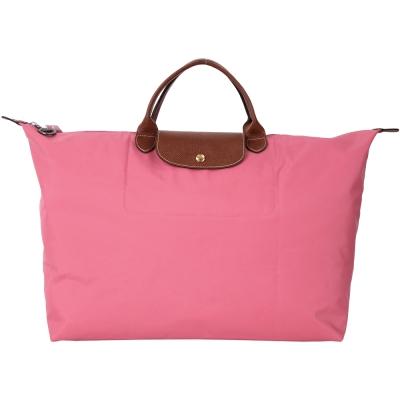 LONGCHAMP LE PLIAGE 牡丹粉摺疊尼龍旅行袋(L/展示品)