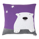 Yvonne Collection大白熊抱枕-紫(45x45cm)