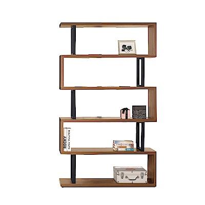品家居 克羅4尺木紋雙色展示櫃/收納櫃(二色可選)-120x35x197.7cm免組