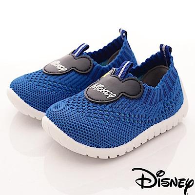 迪士尼童鞋 米奇針織懶人鞋款-ON18334藍(小童段)