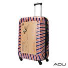 AOU 24吋 愛心公益 TSA海關鎖鏡面硬殼箱 旅行箱(郵票箱)90-032B