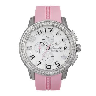 Tendence 天勢錶 圓形系列計時碼表款-銀白/45mm