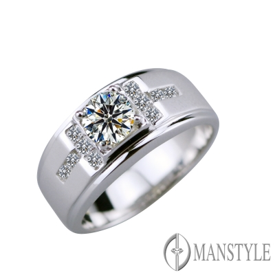 MANSTYLE 皇家極品 0.65ct 八心八箭鑽石戒指