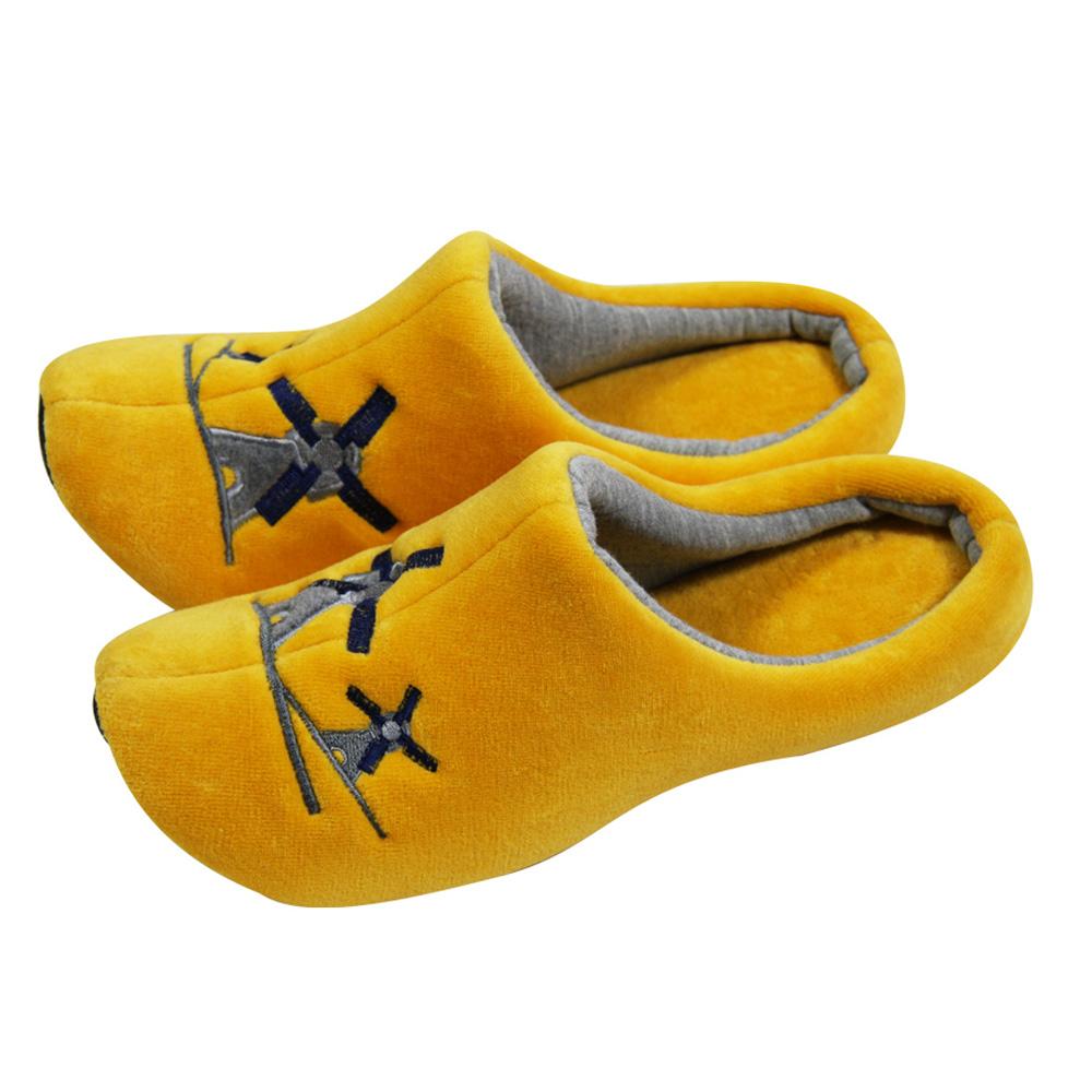 Yvonne Collection荷蘭風車拖鞋-橘黃M