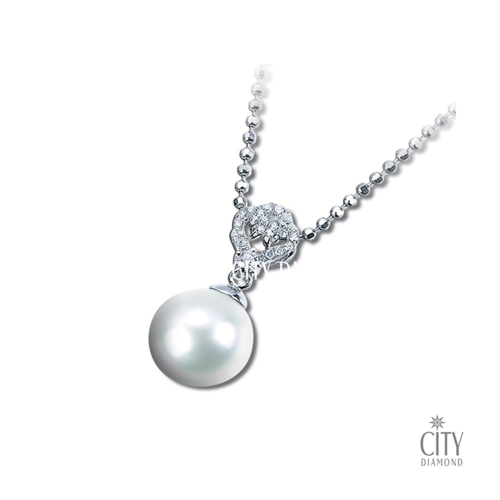 City Diamond『扇貝圖騰』珍珠鑽墜