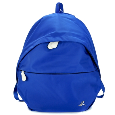 agnes b.金屬b素面後背包(藍)