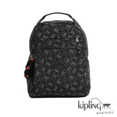 Kiplimg-後背包-經典猴紋編織印花