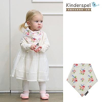 Kinderspel 繽紛時尚‧有機棉圍兜領巾(公主花園)