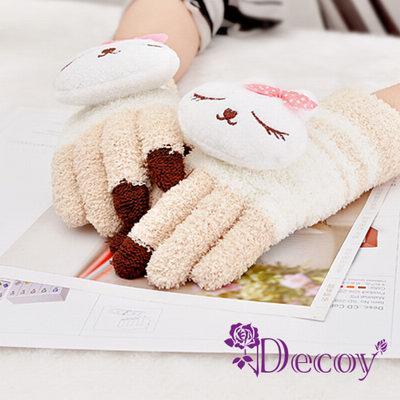 Decoy-動物玩偶觸控絨毛手套-三款可選