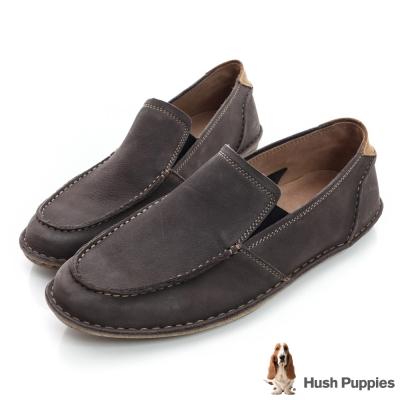 Hush Puppies ASIL 超軟Q直套式休閒鞋-灰色
