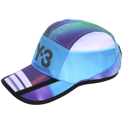 Y-3 AOP 渲彩條紋拼接棒球帽