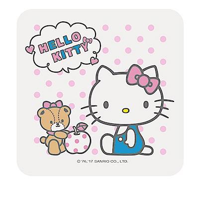 【三麗鷗獨家授權】Hello Kitty繽紛彩繪杯墊/皂盤-蜜蘋果
