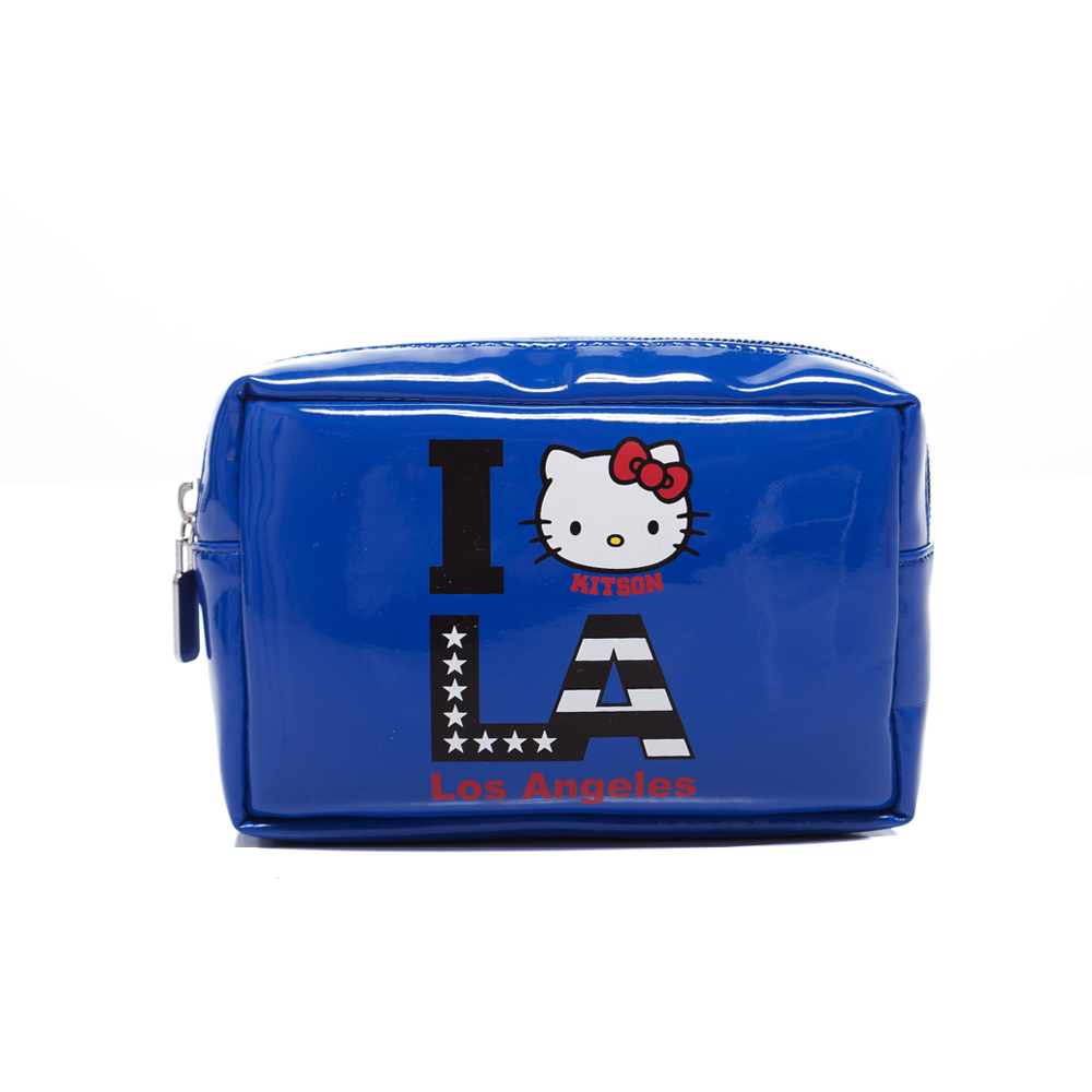 kitson x Kitty - Loves LA 聯名系列 化妝包(BLUE)