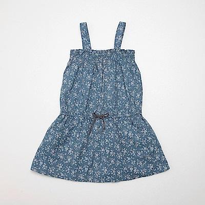 PIPPY 花布背心裙 藍