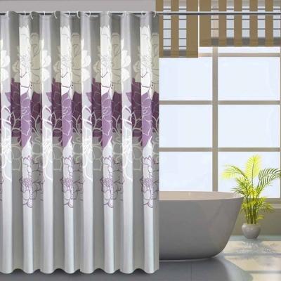 LISAN頂級加厚防水浴簾-A-023經典不凡 富貴花開-悠然
